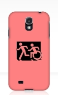 Accessible Exit Sign Project Wheelchair Wheelie Running Man Symbol Means of Egress Icon Disability Emergency Evacuation Fire Safety Samsung Galaxy Case 114