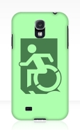 Accessible Exit Sign Project Wheelchair Wheelie Running Man Symbol Means of Egress Icon Disability Emergency Evacuation Fire Safety Samsung Galaxy Case 115