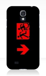 Accessible Exit Sign Project Wheelchair Wheelie Running Man Symbol Means of Egress Icon Disability Emergency Evacuation Fire Safety Samsung Galaxy Case 116