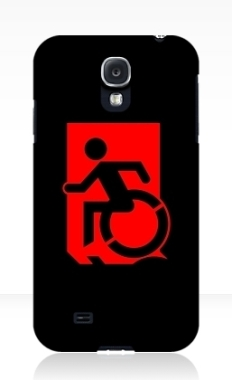 Accessible Exit Sign Project Wheelchair Wheelie Running Man Symbol Means of Egress Icon Disability Emergency Evacuation Fire Safety Samsung Galaxy Case 117