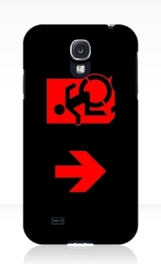 Accessible Exit Sign Project Wheelchair Wheelie Running Man Symbol Means of Egress Icon Disability Emergency Evacuation Fire Safety Samsung Galaxy Case 118