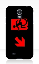 Accessible Exit Sign Project Wheelchair Wheelie Running Man Symbol Means of Egress Icon Disability Emergency Evacuation Fire Safety Samsung Galaxy Case 119