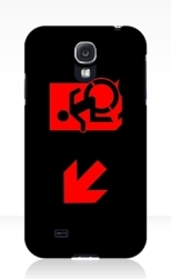 Accessible Exit Sign Project Wheelchair Wheelie Running Man Symbol Means of Egress Icon Disability Emergency Evacuation Fire Safety Samsung Galaxy Case 120