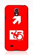 Accessible Exit Sign Project Wheelchair Wheelie Running Man Symbol Means of Egress Icon Disability Emergency Evacuation Fire Safety Samsung Galaxy Case 12