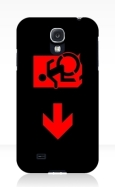 Accessible Exit Sign Project Wheelchair Wheelie Running Man Symbol Means of Egress Icon Disability Emergency Evacuation Fire Safety Samsung Galaxy Case 121