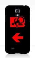 Accessible Exit Sign Project Wheelchair Wheelie Running Man Symbol Means of Egress Icon Disability Emergency Evacuation Fire Safety Samsung Galaxy Case 122
