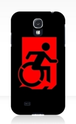 Accessible Exit Sign Project Wheelchair Wheelie Running Man Symbol Means of Egress Icon Disability Emergency Evacuation Fire Safety Samsung Galaxy Case 123
