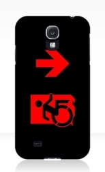 Accessible Exit Sign Project Wheelchair Wheelie Running Man Symbol Means of Egress Icon Disability Emergency Evacuation Fire Safety Samsung Galaxy Case 124