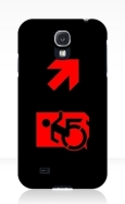 Accessible Exit Sign Project Wheelchair Wheelie Running Man Symbol Means of Egress Icon Disability Emergency Evacuation Fire Safety Samsung Galaxy Case 125