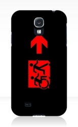 Accessible Exit Sign Project Wheelchair Wheelie Running Man Symbol Means of Egress Icon Disability Emergency Evacuation Fire Safety Samsung Galaxy Case 126