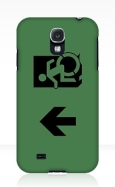 Accessible Exit Sign Project Wheelchair Wheelie Running Man Symbol Means of Egress Icon Disability Emergency Evacuation Fire Safety Samsung Galaxy Case 127