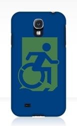 Accessible Exit Sign Project Wheelchair Wheelie Running Man Symbol Means of Egress Icon Disability Emergency Evacuation Fire Safety Samsung Galaxy Case 128