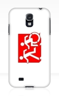 Accessible Exit Sign Project Wheelchair Wheelie Running Man Symbol Means of Egress Icon Disability Emergency Evacuation Fire Safety Samsung Galaxy Case 129