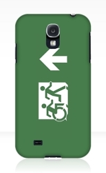 Accessible Exit Sign Project Wheelchair Wheelie Running Man Symbol Means of Egress Icon Disability Emergency Evacuation Fire Safety Samsung Galaxy Case 13