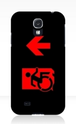 Accessible Exit Sign Project Wheelchair Wheelie Running Man Symbol Means of Egress Icon Disability Emergency Evacuation Fire Safety Samsung Galaxy Case 131