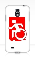 Accessible Exit Sign Project Wheelchair Wheelie Running Man Symbol Means of Egress Icon Disability Emergency Evacuation Fire Safety Samsung Galaxy Case 132