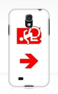Accessible Exit Sign Project Wheelchair Wheelie Running Man Symbol Means of Egress Icon Disability Emergency Evacuation Fire Safety Samsung Galaxy Case 133