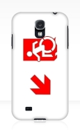 Accessible Exit Sign Project Wheelchair Wheelie Running Man Symbol Means of Egress Icon Disability Emergency Evacuation Fire Safety Samsung Galaxy Case 134