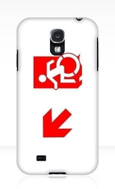 Accessible Exit Sign Project Wheelchair Wheelie Running Man Symbol Means of Egress Icon Disability Emergency Evacuation Fire Safety Samsung Galaxy Case 135