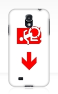 Accessible Exit Sign Project Wheelchair Wheelie Running Man Symbol Means of Egress Icon Disability Emergency Evacuation Fire Safety Samsung Galaxy Case 136