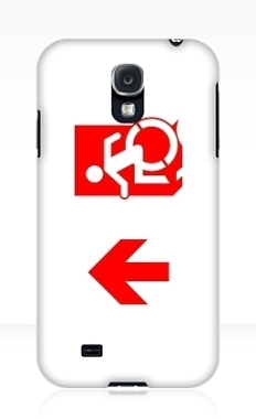 Accessible Exit Sign Project Wheelchair Wheelie Running Man Symbol Means of Egress Icon Disability Emergency Evacuation Fire Safety Samsung Galaxy Case 137