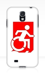 Accessible Exit Sign Project Wheelchair Wheelie Running Man Symbol Means of Egress Icon Disability Emergency Evacuation Fire Safety Samsung Galaxy Case 138
