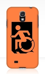 Accessible Exit Sign Project Wheelchair Wheelie Running Man Symbol Means of Egress Icon Disability Emergency Evacuation Fire Safety Samsung Galaxy Case 139
