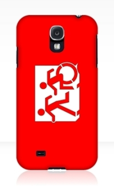 Accessible Exit Sign Project Wheelchair Wheelie Running Man Symbol Means of Egress Icon Disability Emergency Evacuation Fire Safety Samsung Galaxy Case 14