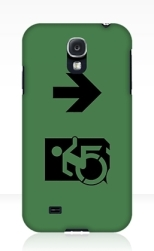 Accessible Exit Sign Project Wheelchair Wheelie Running Man Symbol Means of Egress Icon Disability Emergency Evacuation Fire Safety Samsung Galaxy Case 140