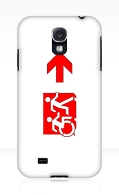 Accessible Exit Sign Project Wheelchair Wheelie Running Man Symbol Means of Egress Icon Disability Emergency Evacuation Fire Safety Samsung Galaxy Case 141
