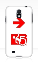 Accessible Exit Sign Project Wheelchair Wheelie Running Man Symbol Means of Egress Icon Disability Emergency Evacuation Fire Safety Samsung Galaxy Case 142