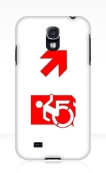 Accessible Exit Sign Project Wheelchair Wheelie Running Man Symbol Means of Egress Icon Disability Emergency Evacuation Fire Safety Samsung Galaxy Case 143