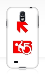 Accessible Exit Sign Project Wheelchair Wheelie Running Man Symbol Means of Egress Icon Disability Emergency Evacuation Fire Safety Samsung Galaxy Case 144