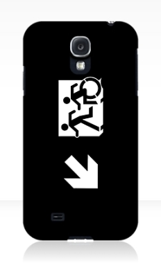 Accessible Exit Sign Project Wheelchair Wheelie Running Man Symbol Means of Egress Icon Disability Emergency Evacuation Fire Safety Samsung Galaxy Case 145