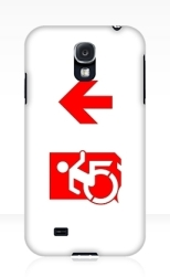 Accessible Exit Sign Project Wheelchair Wheelie Running Man Symbol Means of Egress Icon Disability Emergency Evacuation Fire Safety Samsung Galaxy Case 146
