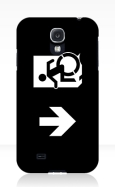 Accessible Exit Sign Project Wheelchair Wheelie Running Man Symbol Means of Egress Icon Disability Emergency Evacuation Fire Safety Samsung Galaxy Case 147