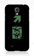 Accessible Exit Sign Project Wheelchair Wheelie Running Man Symbol Means of Egress Icon Disability Emergency Evacuation Fire Safety Samsung Galaxy Case 148