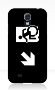 Accessible Exit Sign Project Wheelchair Wheelie Running Man Symbol Means of Egress Icon Disability Emergency Evacuation Fire Safety Samsung Galaxy Case 149