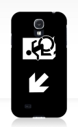 Accessible Exit Sign Project Wheelchair Wheelie Running Man Symbol Means of Egress Icon Disability Emergency Evacuation Fire Safety Samsung Galaxy Case 150