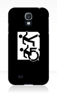 Accessible Exit Sign Project Wheelchair Wheelie Running Man Symbol Means of Egress Icon Disability Emergency Evacuation Fire Safety Samsung Galaxy Case 151