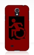 Accessible Exit Sign Project Wheelchair Wheelie Running Man Symbol Means of Egress Icon Disability Emergency Evacuation Fire Safety Samsung Galaxy Case 152