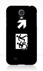 Accessible Exit Sign Project Wheelchair Wheelie Running Man Symbol Means of Egress Icon Disability Emergency Evacuation Fire Safety Samsung Galaxy Case 153