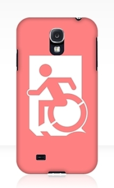 Accessible Exit Sign Project Wheelchair Wheelie Running Man Symbol Means of Egress Icon Disability Emergency Evacuation Fire Safety Samsung Galaxy Case 154