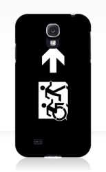 Accessible Exit Sign Project Wheelchair Wheelie Running Man Symbol Means of Egress Icon Disability Emergency Evacuation Fire Safety Samsung Galaxy Case 155