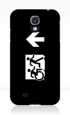Accessible Exit Sign Project Wheelchair Wheelie Running Man Symbol Means of Egress Icon Disability Emergency Evacuation Fire Safety Samsung Galaxy Case 156