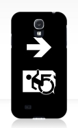 Accessible Exit Sign Project Wheelchair Wheelie Running Man Symbol Means of Egress Icon Disability Emergency Evacuation Fire Safety Samsung Galaxy Case 157