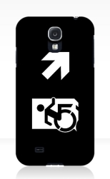 Accessible Exit Sign Project Wheelchair Wheelie Running Man Symbol Means of Egress Icon Disability Emergency Evacuation Fire Safety Samsung Galaxy Case 158