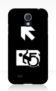 Accessible Exit Sign Project Wheelchair Wheelie Running Man Symbol Means of Egress Icon Disability Emergency Evacuation Fire Safety Samsung Galaxy Case 159