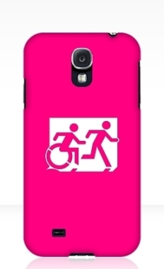 Accessible Exit Sign Project Wheelchair Wheelie Running Man Symbol Means of Egress Icon Disability Emergency Evacuation Fire Safety Samsung Galaxy Case 16