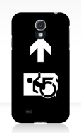 Accessible Exit Sign Project Wheelchair Wheelie Running Man Symbol Means of Egress Icon Disability Emergency Evacuation Fire Safety Samsung Galaxy Case 160